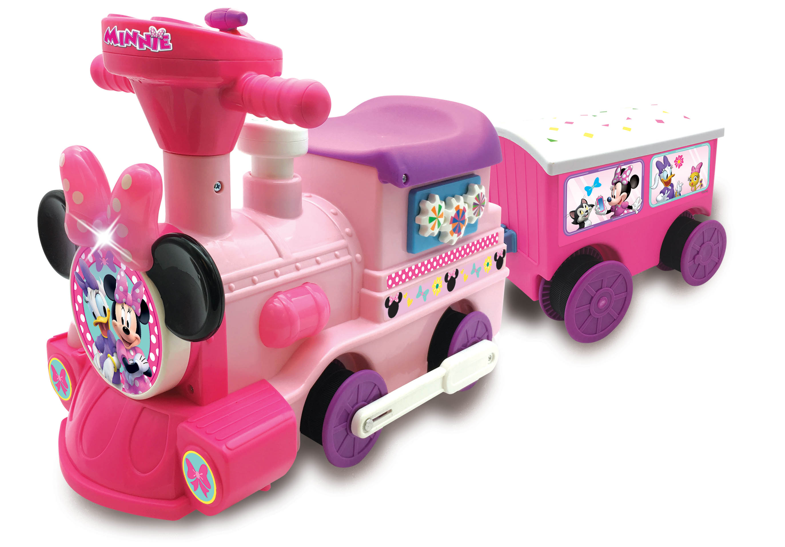 New Disney Minnie Mouse 2in1 Battery Powered Ride On Choo Train With