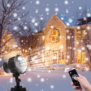 Christmas Projector Light Outdoor, LED Snowfall Landscape Projector Light with Wireless Remote for Christmas, Halloween, Holiday, Outdoor, Party Decorations