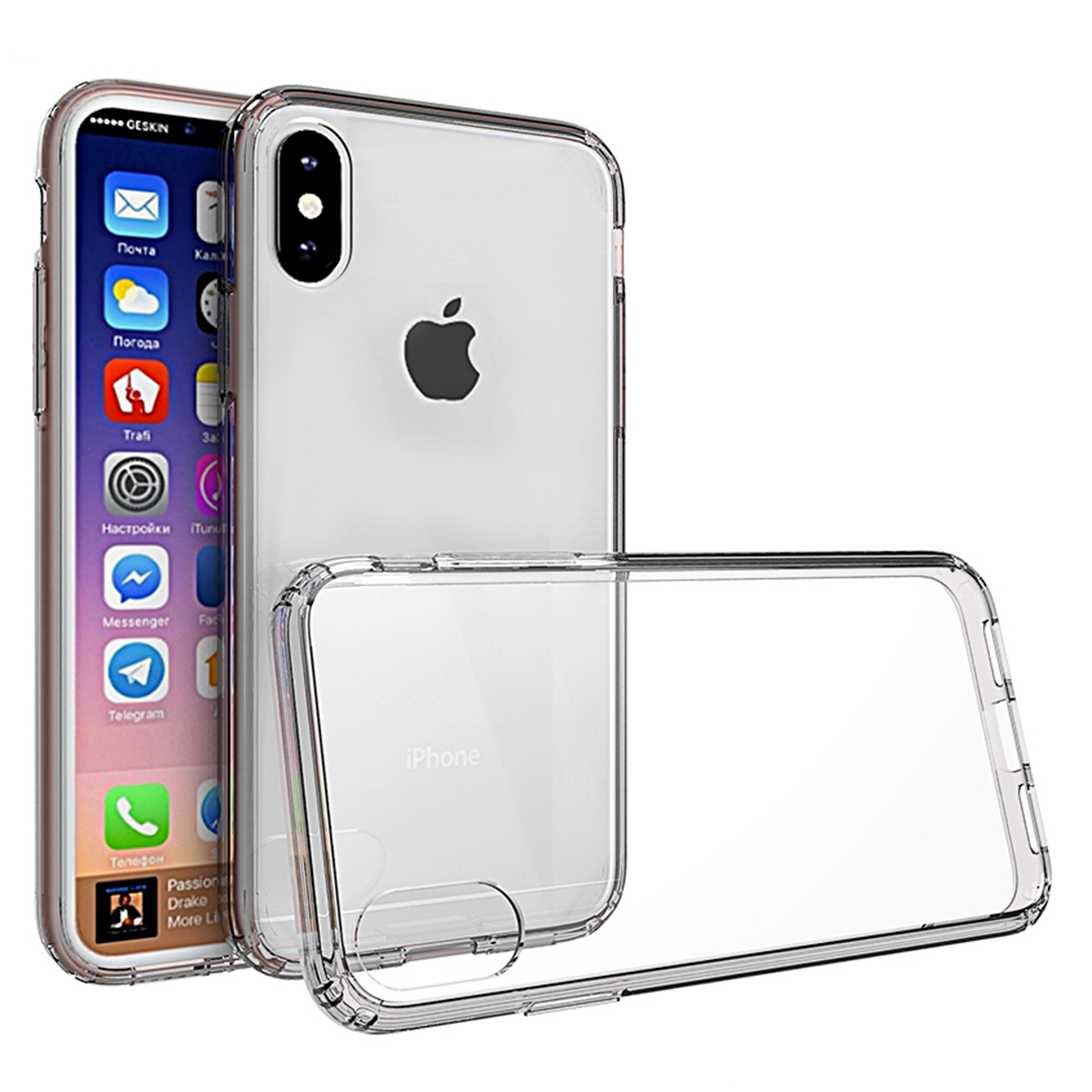 iPhone X Case (5.8'), APPLE IPhone X Case, Torryka Slim Clear anti-scratch Slim Shockproof Hard PC+TPU Bumper Protective Armor Defender Cover for Apple iPhone X (Clear Bumper)