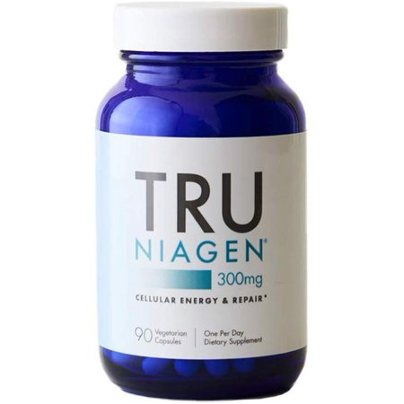 TRU NIAGEN Nicotinamide Riboside - Patented NAD Booster for Cellular Repair & Energy, 300mg Vegetarian Capsules, 300mg Per Serving, 90 Day Bottle Saventaro 90 Capsules