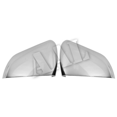 AAL Premium Chrome Mirror Cover For 2015-2017 FORD 15~17 Mustang Top Mirrors (Without LED turning light and Sensor (Mustang Mirror Covers)
