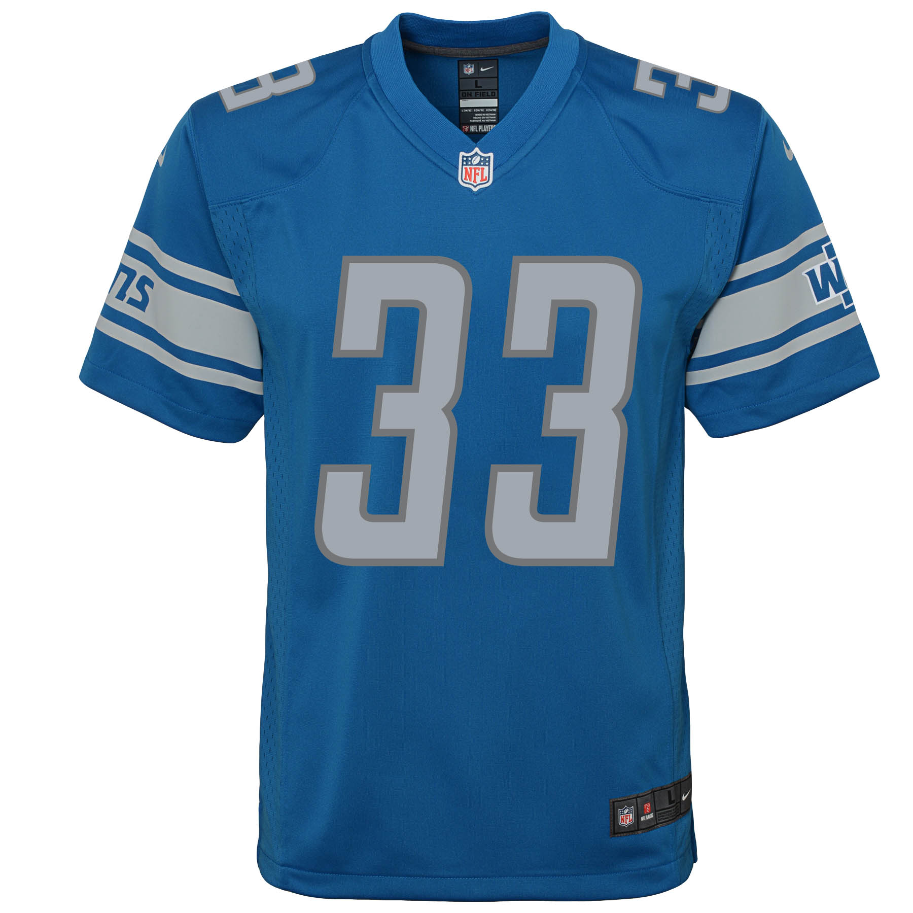 huge selection of 85e7c 9ab99 Kerryon Johnson Detroit Lions Nike Youth Game Jersey - Blue