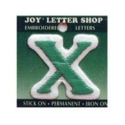 "Joy Applique Letter Iron On Cooper 1.5"" Green X"