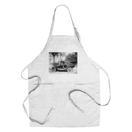 Washington Times Newspaper Truck Photograph  Cotton Polyester Chefs Apron