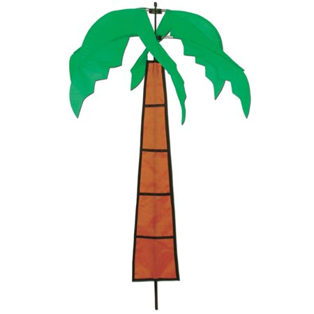 Pack of 6 Tropical Luau Themed Palm Tree Wind-Wheel Yard Party Decorations - Palm Tree Party Decorations