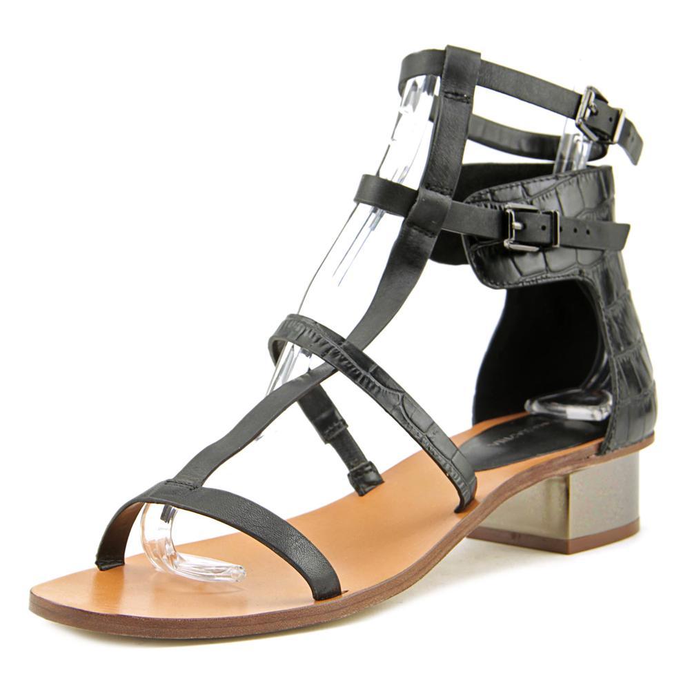 Bcbg Maxazria Cross   Open Toe Leather  Gladiator Sandal