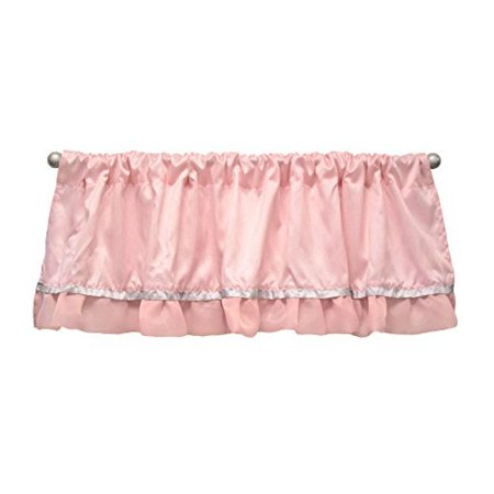 The Peanut Shell Baby Girl Window Valance - Pink and White - Arianna