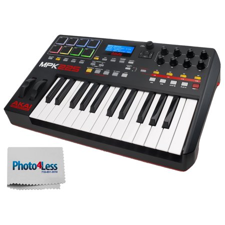 akai professional mpk225 25 key usb midi keyboard drum pad controller with lcd screen 8. Black Bedroom Furniture Sets. Home Design Ideas