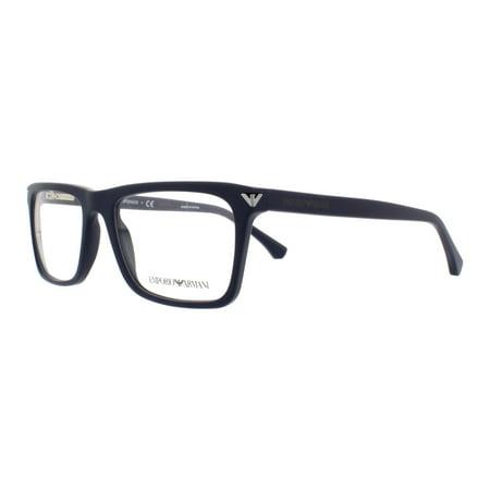 b65a99053d8 EMPORIO ARMANI Eyeglasses EA 3071 5452 Matte Blue 53MM - Walmart.com