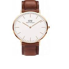 Daniel Wellington St Mawes White Dial Brown Leather Ladies (Double H Wellington)