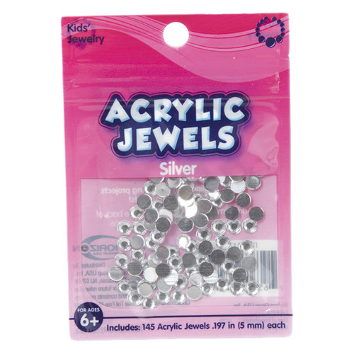 Kids Craft Acrylic Stones, 5mm, Clear