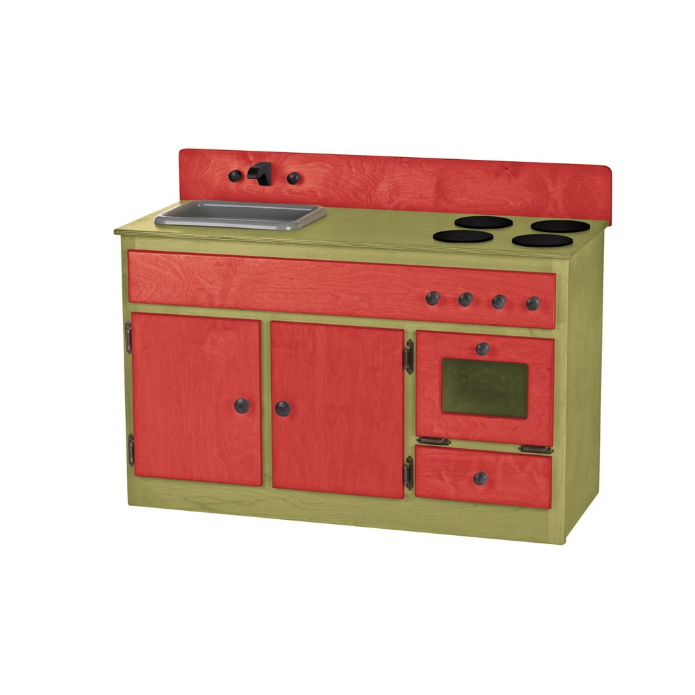 Kunkle Holdings LLC Children's REAL WOOD Play Kitchen Sink/Stove Combo