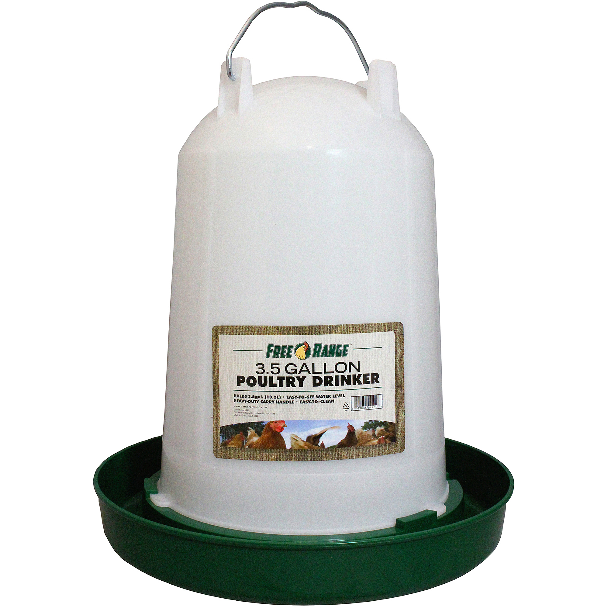 Harris Farms Llc Pet 4221 3.5 Gallon Plastic Poultry Water Fountain