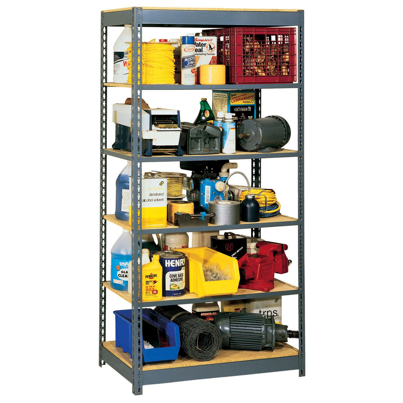 Rivet Lock Shelving Unit - 6 Shelf