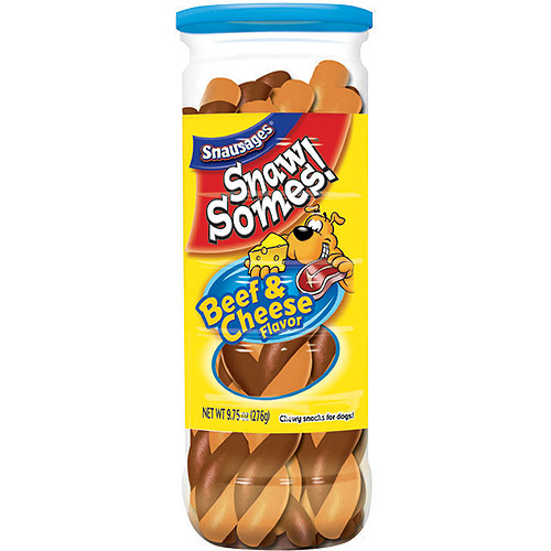 Snaw Somes! Beef & Cheese Flavor Dog Snacks, 9.75-Ounce