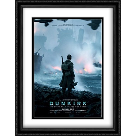 Dunkirk 28X36 Double Matted Large Large Black Ornate Framed Movie Poster Art Print