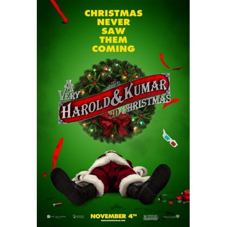 A Very Harold And Kumar 3D Christmas Mini Poster 11inx17in 28cm