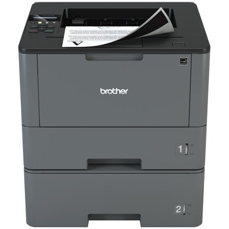 Brother Monochrome Laser Printer, HL-L5200DWT, Duplex Printing, Wireless Networking, Dual Paper Trays, Mobile (Dual Tray Printer)
