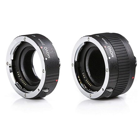 Movo MT-P56 2-Piece AF Chrome Macro Extension Tube Set for Pentax K DSLR Camera with 20mm, 36mm (Chrome Extension Tube)