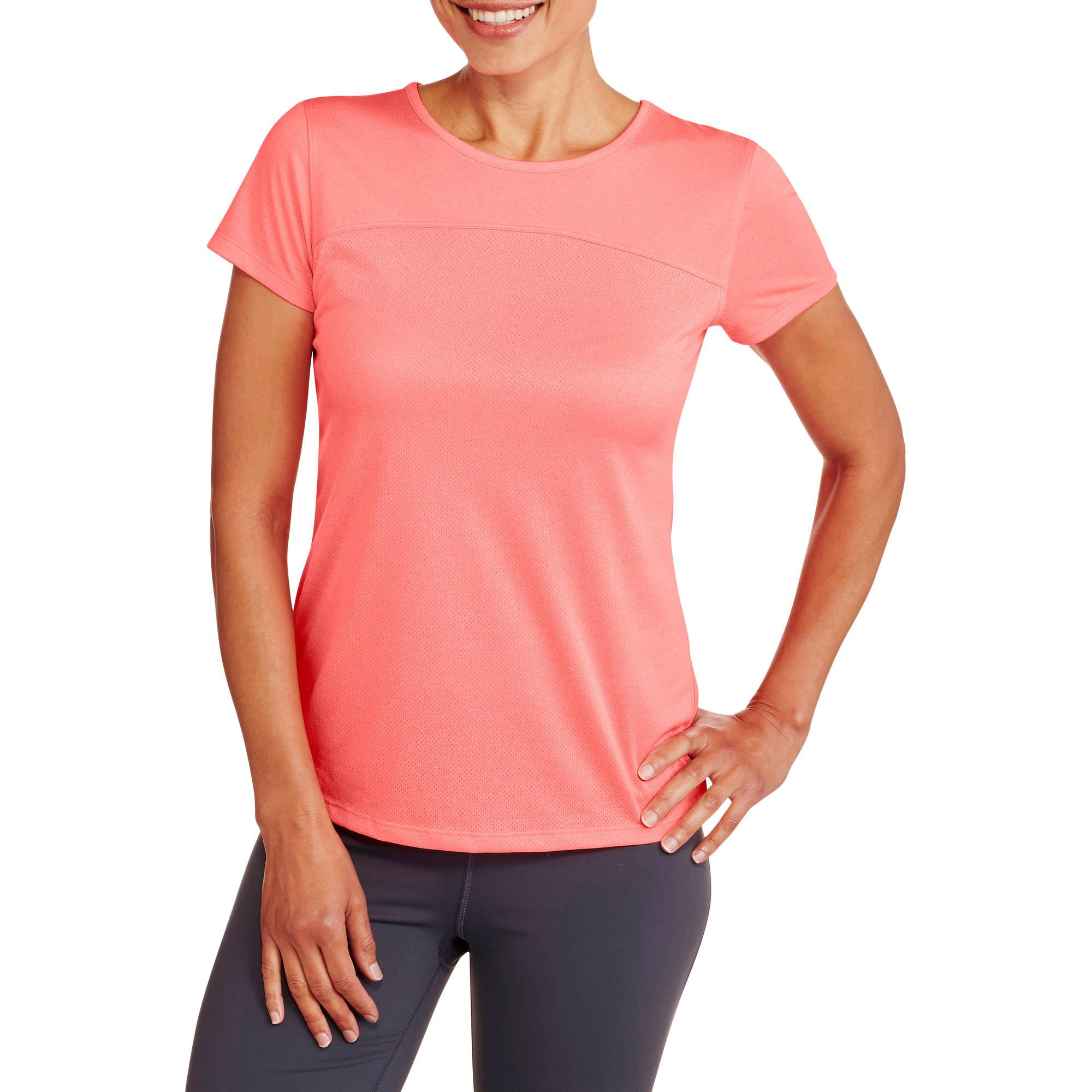Danskin Now Women's Active Short Sleeve T-Shirt with Back Vent