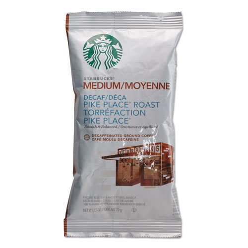 Starbucks Medium Pike Place Roast Decaffeinated Ground Coffee, 18 count