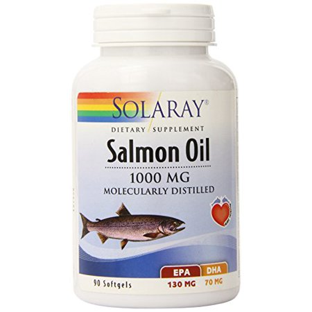 Salmon Oil 1000 mg By Solaray - 90 Softgels