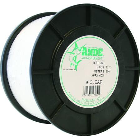 Ande Premium Mono Line 1Lb Spool 200Lb 200Yds Clear ()