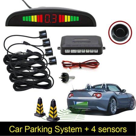 Parking Sensors LED Car Auto Backup Reverse Rear Radar System Alert Alarm