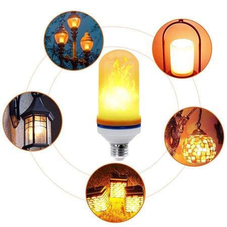 (E26 Emulation LED flicker Fire flame Decorative light bulb Atmosphere Lighting flickering Bulbs Vintage Flaming Effect Light Bulb for Party/Bar/Festival/Birthday Decoration)