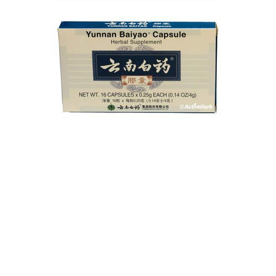 Yunnan Baiyao Capsules, 250 Mg, 16 Ct