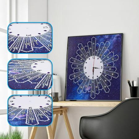 5D Special Diamond-Shaped Embroidery Wall Clock DIY Painting Diamond Cross Stitc ()