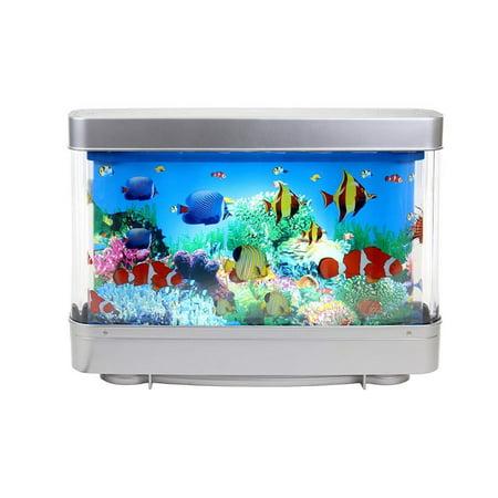 Elegantoss Virtual Moving Ocean Tropical Fish Aquarium Decorative Night Lamp (Tropical Decorations For Aquarium)