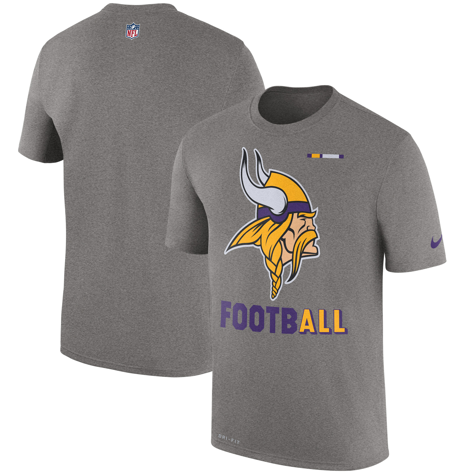 Minnesota Vikings Nike Sideline Legend Football Performance T-Shirt - Charcoal