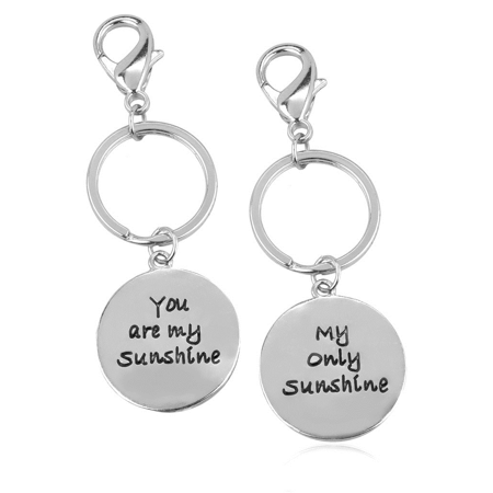 14k Keychain (Lux Accessories You Are My Sunshine Only Sunshine BFF Best Friends Forever Matching Keychain Set (2)