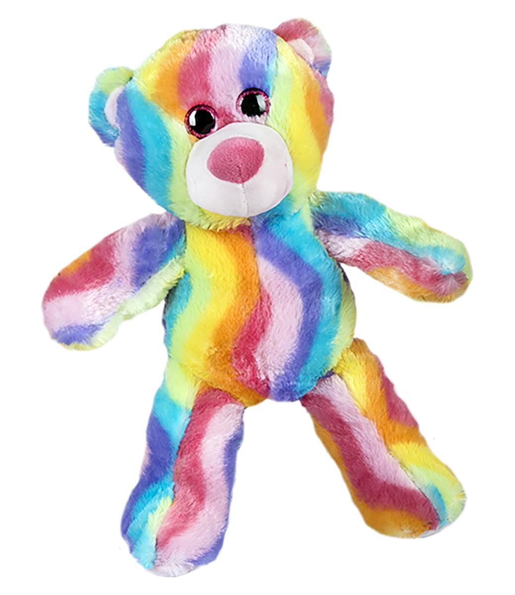 Recordable Teddy Bear Walmart, Record Your Own Plush 16 Inch Rainbow Stripe Teddy Bear Ready To Love In A Few Easy Steps Walmart Com Walmart Com