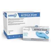 AMMEX Nitrile Latex Free Medical Disposable Gloves, X-Large, Black, 100/Box