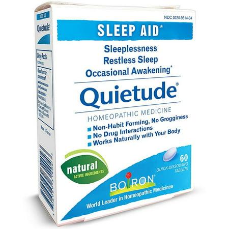 Boiron Quietude Sleep Aid Qucik Dissolving Tablets 60 ea (Pack of 6)