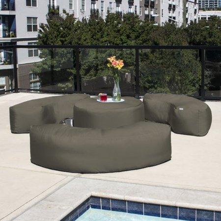 Winston Porter Mance Patio Outdoor Bean Bag 4 Piece Sofa Seating Group with  Sunbrella Cushions