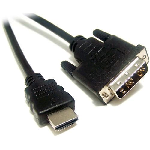 Micro Connectors 6' HDMI M to DVI M Media Cable