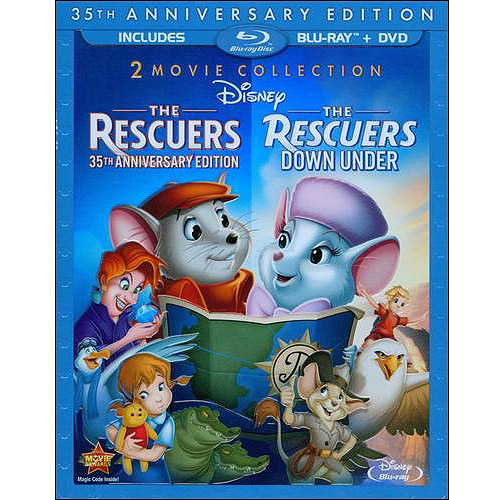 RESCUERS-35TH ANNIVERSARY/RESCUERS-DOWN UNDER 2PK (BR/DVD-2/3 DISC) BR-PKG
