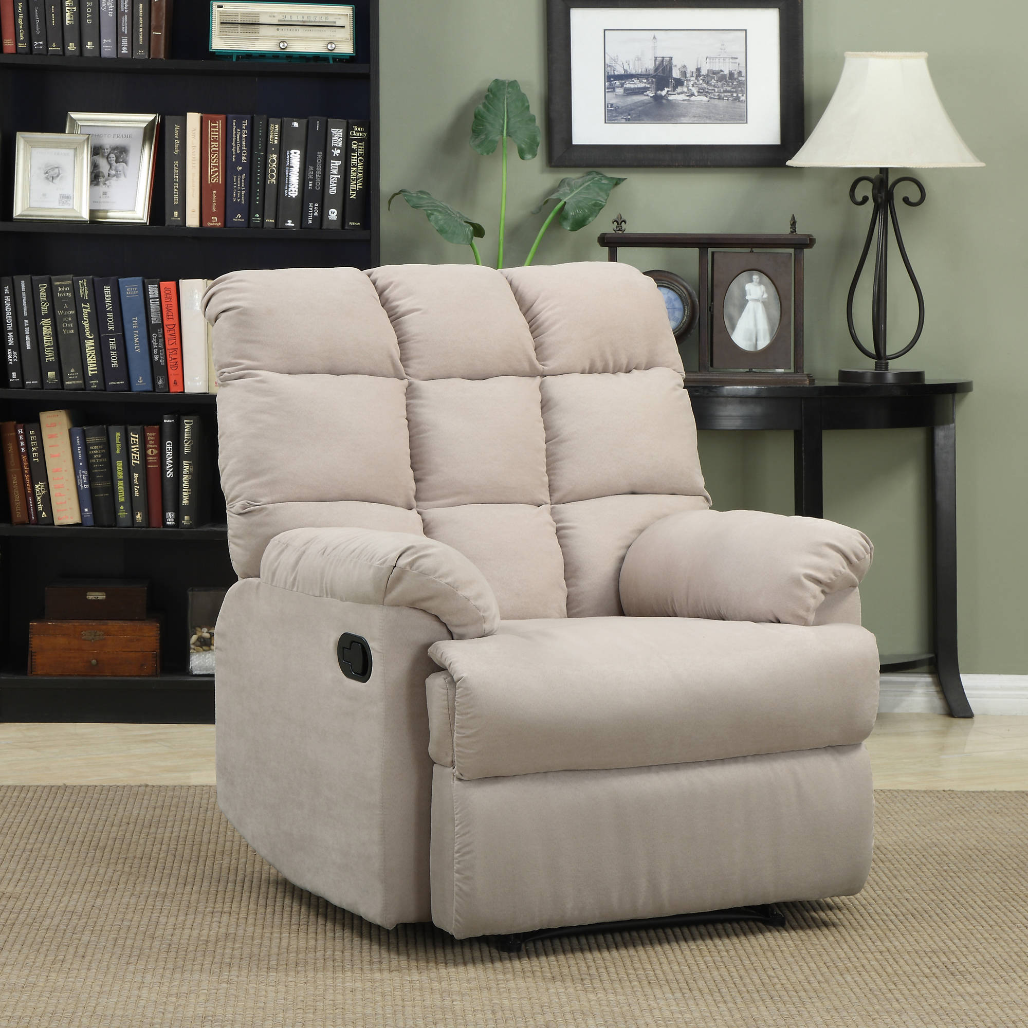 ProLounger Wall Hugger Microfiber Biscuit Back Recliner Chair, Multiple Colors