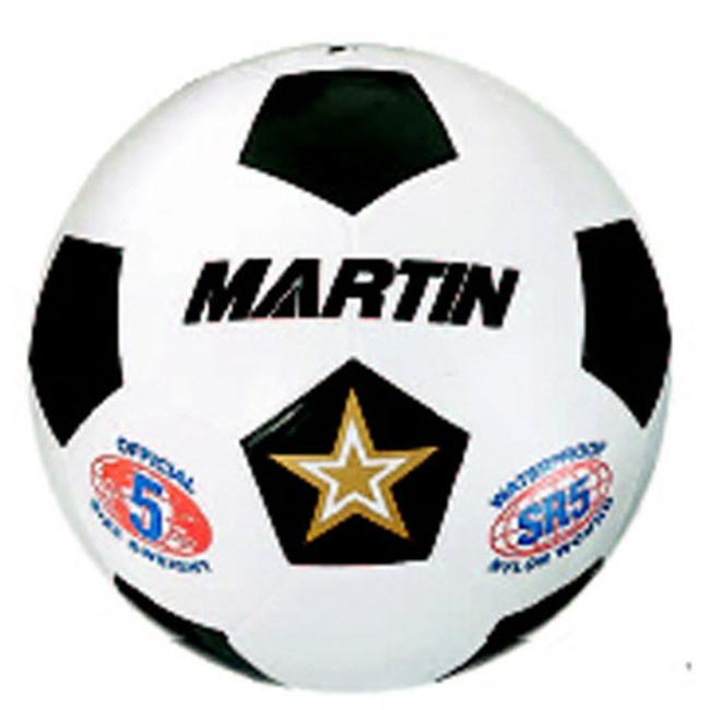 Dick Martin Sports MASSR5W 5 Inch Rubber Nylon Wound Soccer Ball - White