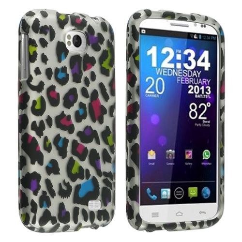 Insten Colorful Leopard Snap-On Hard Cover Premium Case For BLU Studio II 5.3 D550a