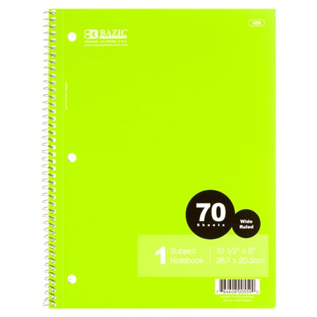 New 305398  Notebook Wide Rule 70 Ct W / Spiral Paper Cover (24-Pack) Notebook Cheap Wholesale Discount Bulk Seasonal Notebook Fix Patch Kit