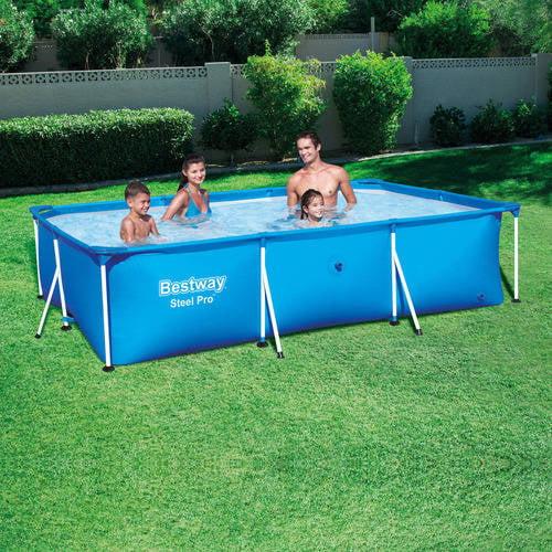 "Bestway Steel Pro 118"" x 79"" x 26"" Deluxe Splash Frame Swimming Pool"