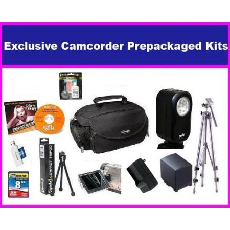 Essential Accessory Package For The Canon FS300 FS31 Package Includes 8GB SD Memory Card, Extended Life BP-808 Batttery & Charger, Portable Video Light, Tripod, Deluxe Carrying Case & More