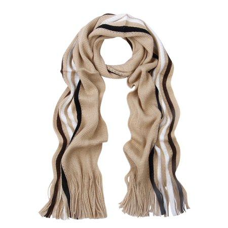 Classic Premium Unisex Striped Winter Knit Fringe (Classic Striped Scarf)