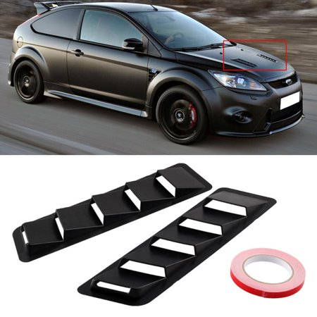 Firebird Hood Panel - One Pair 17X5 Inch Universal Car Hood Vent Louver Cooling Panel Trim Set Matte Black ABS