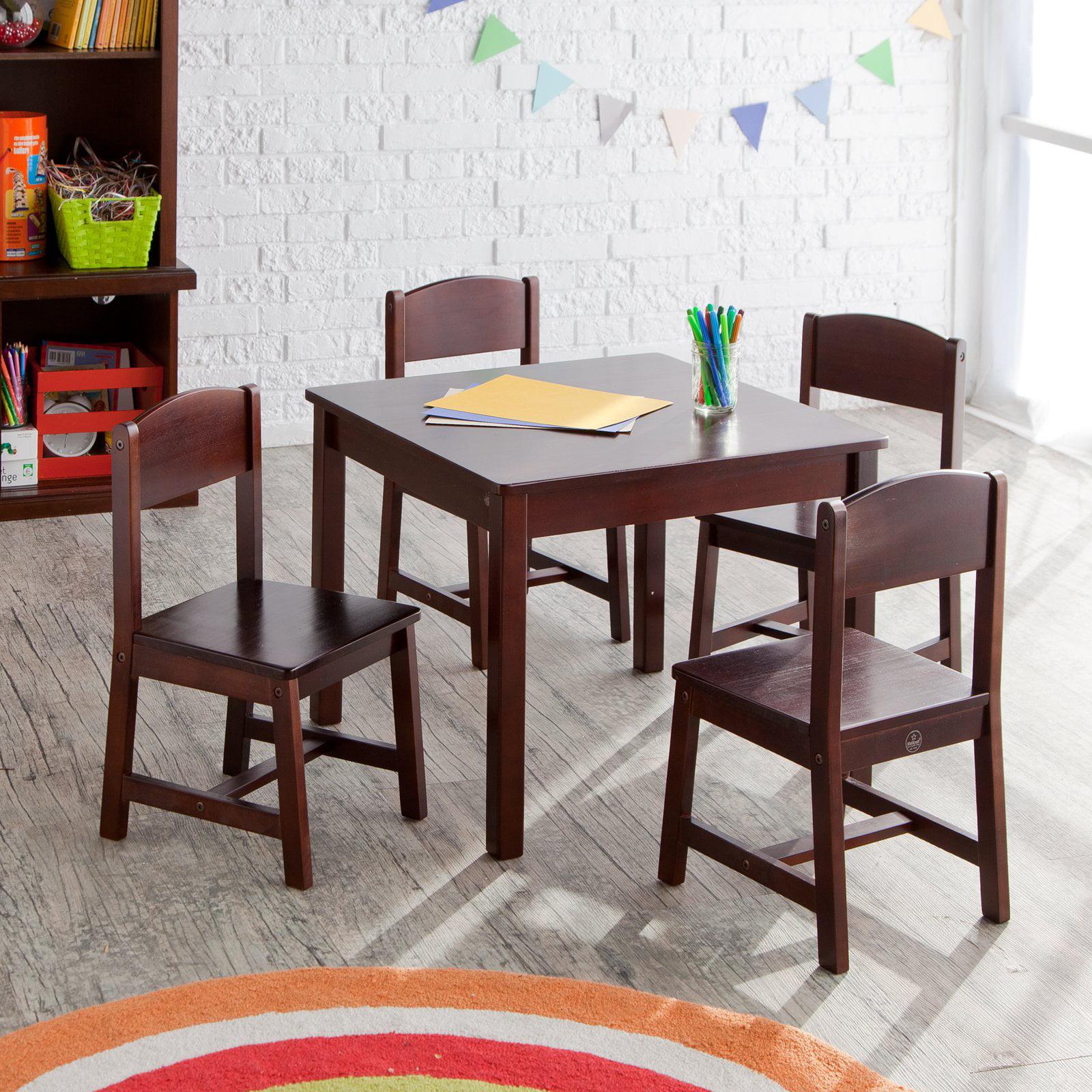 KidKraft Farmhouse Table & 4 Chair Set Espresso Walmart