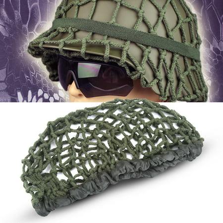 Cotton Helmet (Yosoo Tactical Helmet Net Cover 1pcs Camouflage M1 Helmet Net Army Green Cotton Helmet Camo Net Cover for M1 M35 M88)